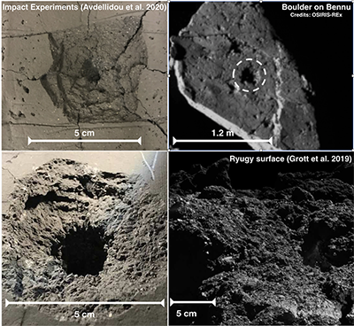comparison asteroidsurfaces